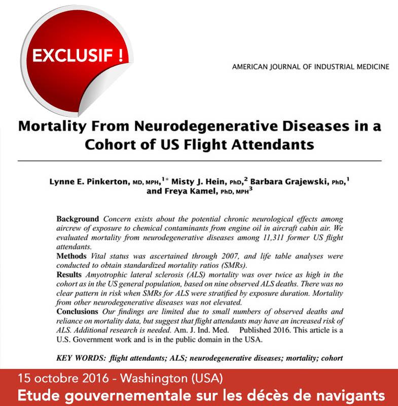 Syndrome aérotoxique : étude officielle sur la cause de décès de navigants américains