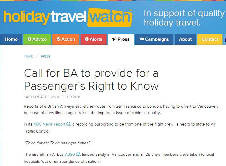 Droit de savoir pour les passagers du vol de l